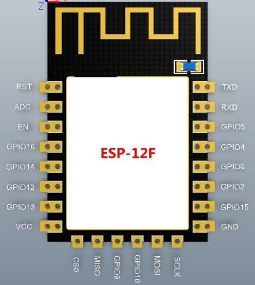 ESP8266 ESP12F WLAN Modul 4 - Ramser Elektrotechnik Webshop