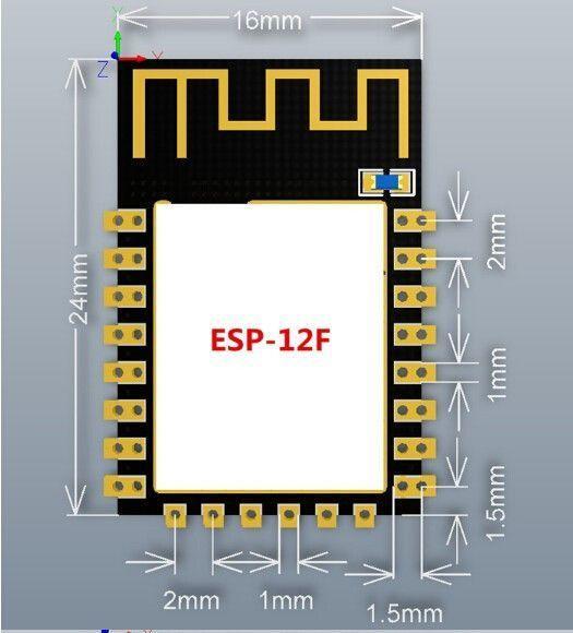 ESP8266 ESP12F WLAN Modul 5 - Ramser Elektrotechnik Webshop