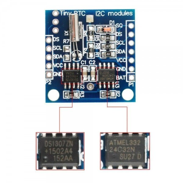 Tiny DS1307 RTC Module fuer Raspberry Arduino - Ramser Elektrotechnik Webshop - 4