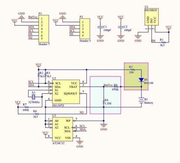 Tiny DS1307 RTC Module fuer Raspberry Arduino - Ramser Elektrotechnik Webshop - 5