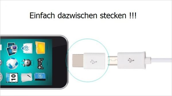 Micro USB auf USB C Adapter 3 - Ramser Elektrotechnik Webshop
