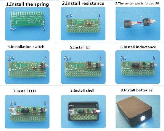 Bausatz - LED Taschenlampe mit Gehäuse - Ramser Elektrotechnik Webshop 6