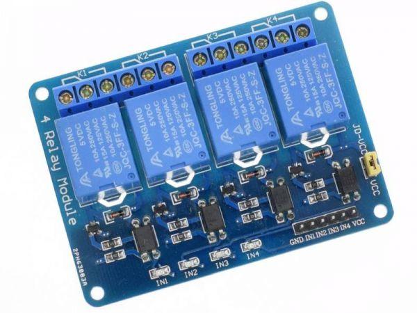 Universal 4 fach Relais Modul 1 - Ramser Elektrotechnik Webshop