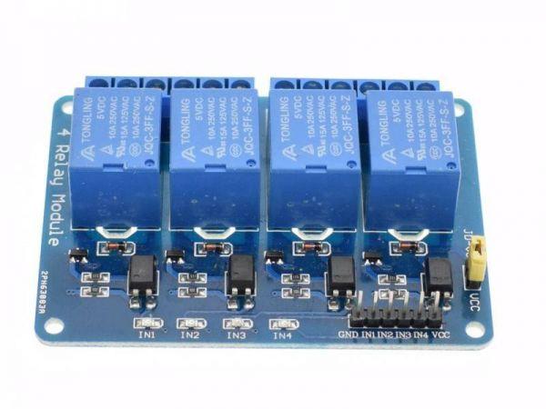 Universal 4 fach Relais Modul 2 - Ramser Elektrotechnik Webshop