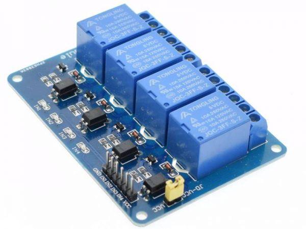 Universal 4 fach Relais Modul 3 - Ramser Elektrotechnik Webshop