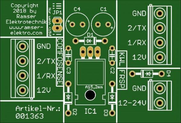 ComfoSense Fremdspeisemodul PCB Top - Ramser Elektrotechnik Onlineshop