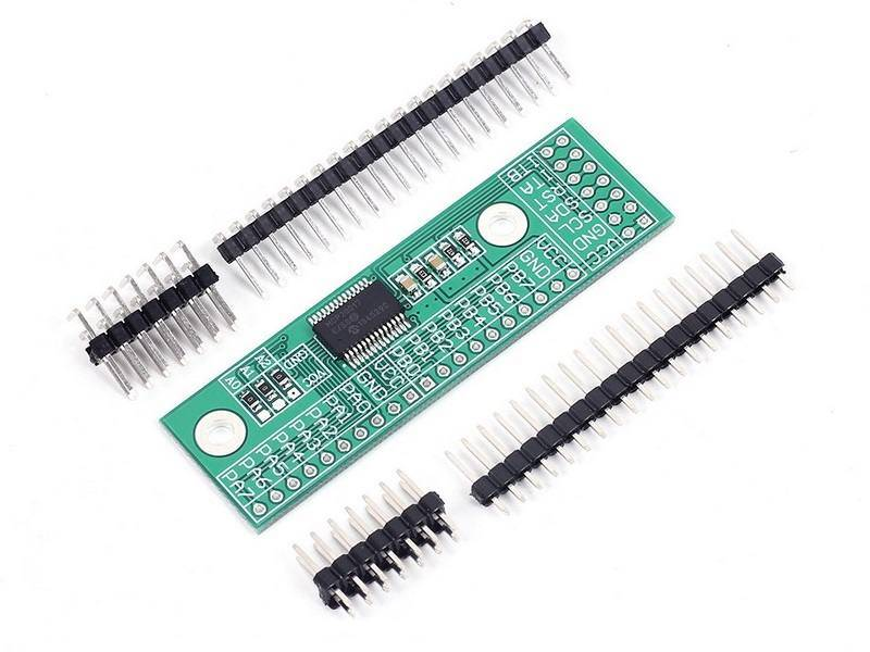 Ultraschall Entfernungsmesser I2c : Mcp23017 i2c 16bit i o port erweiterung ramser elektrotechnik