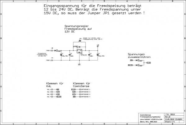 Schematic ComfoSense Fernspeisemodul R0 SW 4 - Ramser Elektrotechnik Shop
