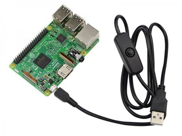 USB Kabel mit Schalter für Raspberry PI 1 - Ramser Elektrotechnik Webshop