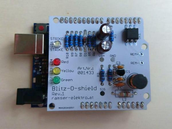 Arduino Blitzdetektor Shield - Ramser Elektrotechnik Webshop 0