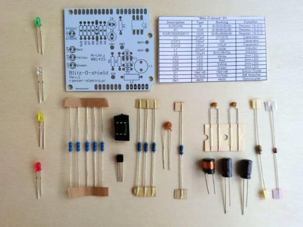 Arduino Blitzdetektor Shield - Ramser Elektrotechnik Webshop 1