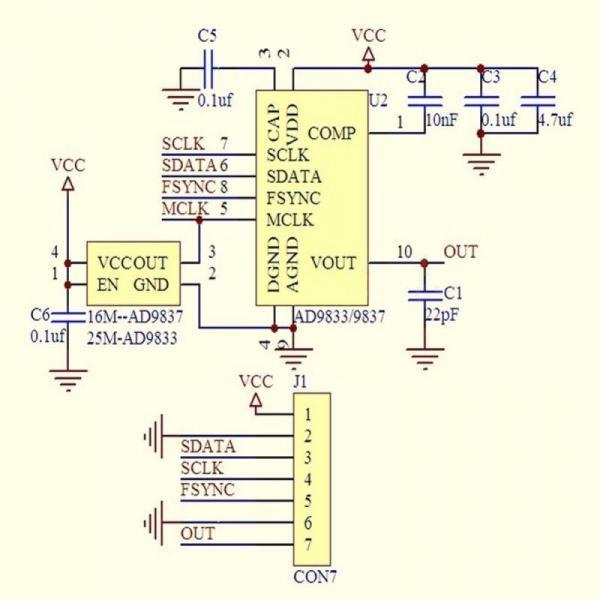 AD9833 Signalgenerator DDS 4-Ramser-Elektrotechnik-Webshop