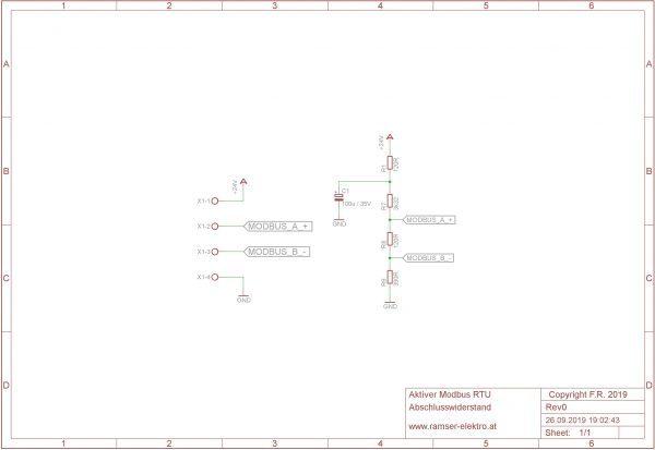 Schaltplan R0 Aktiver MB Terminator - Ramser Elektrotechnik Webshop