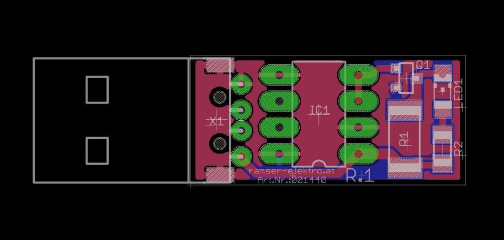 PowerBank Anti off R1 PCB- Ramser Elektrotechnik-Webshop