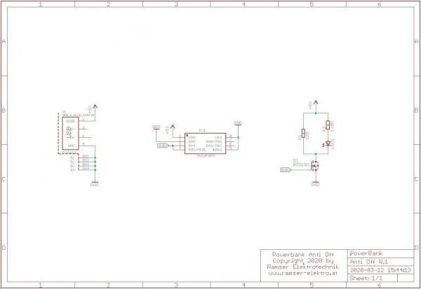 PowerBank Anti off R1 schematic- Ramser Elektrotechnik-Webshop