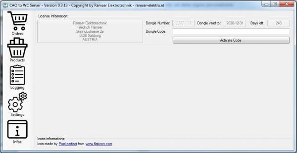 CAO_WC_Server Informations CAO Faktura WooCommerce Schittstelle Interface - Ramser Elektrotechnik Webshop